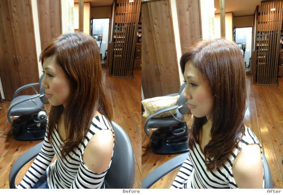 可憐な髪色 スモークピンクブラウン