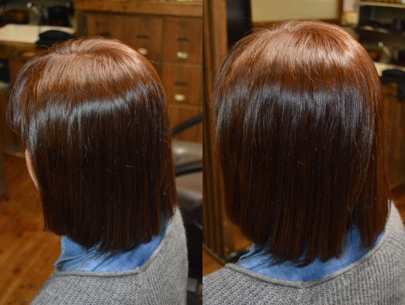 矯正ストレートしてる髪で、ここまで明るく綺麗に白髪が染まります!