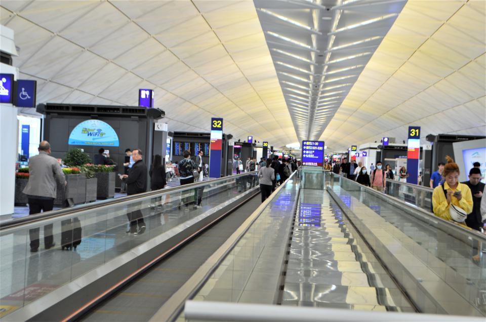 香港国際空港の待合ゲート