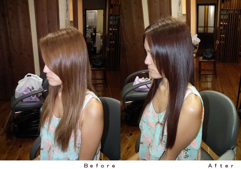 秋髪カラー